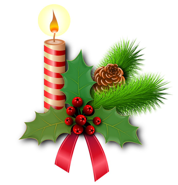 christmas holly picture christmas holly candles free image on pixabay free clipart1
